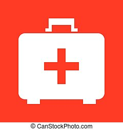 Medical First aid box sign
