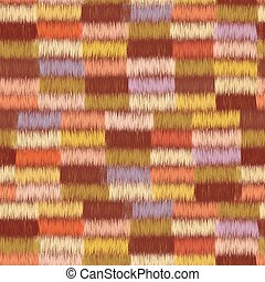 Cloth seamless pattern with row of colorful grunge striped...