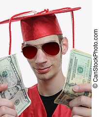 Graduate Showing Off Money - Highschool, university, or...