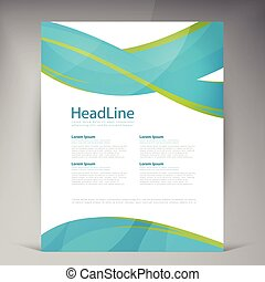 Vector Beautiful Green Flyer. Template flyers design....