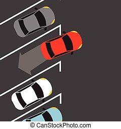 car parking from top above find space automatic sensor vehicle