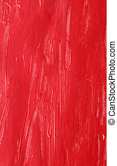 red gouache background - abstract red rough gouache glisten...