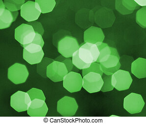 defocused ligths - picture of many defocused green candle...