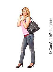 Attractive lady with purse