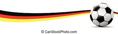 Football German Flag Long Header SH - Classic football with...