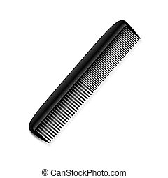 Comb on the white background.