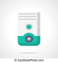 Household dehumidifier flat color vector icon - Household...