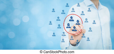 Marketing segmentation, target audience, customers care,...