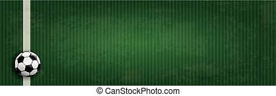 Football Ground Green Cover Header - Football ground with...