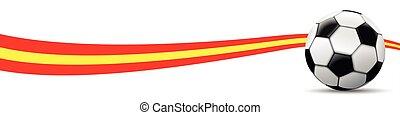 Football Spain Flag Long Header SH - Classic football with...