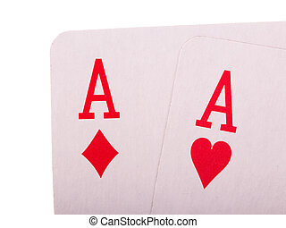Cards for the game of poker isolated on white - Cards for...