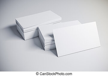 3d blank business card
