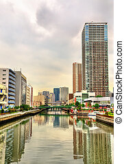 Buildings and canal in Minato ward - Tokyo