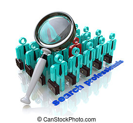 Search professionals. Job search and career choice employment concept