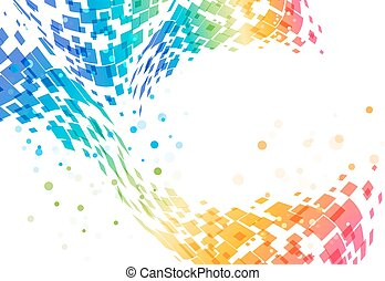 Abstract geometric background - Abstract colorful...