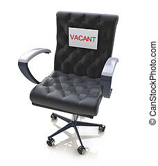 Office Chair With A Vacant Sign At Work Place in the design...