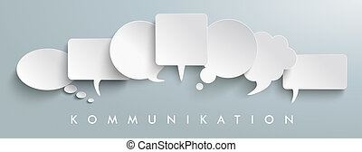 White Paper Speech Balloons Kommunication Header - German...