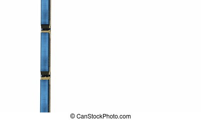 Cargo train containers aerial view - Straight overhead view...
