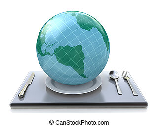 The world on plate