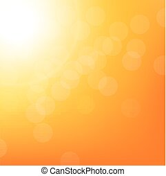 Sunbeam Background With Bokeh, With Gradient Mesh, Vector...