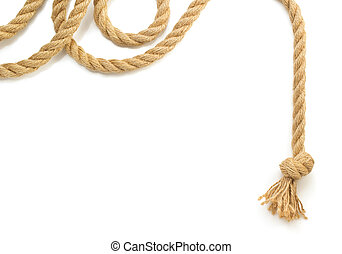 ship rope on white background - ship rope isolated on white...