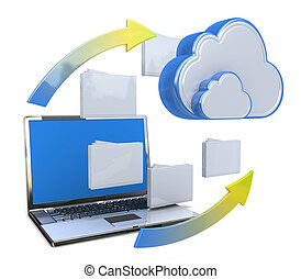 Transferring information or data to a cloud network server...