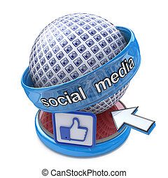 Social Media Concept in designing the information related to...