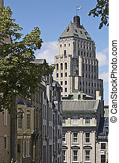 Buildings in the old section of Quebec City, Canada
