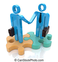 Business handshake in the design of information related to a...