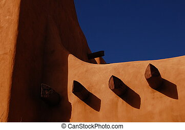 adobe in santa fee 7817 - adobe building in santa fe, NM
