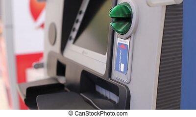 Hands Women Get Money from ATM - The Hands Women Get Money...