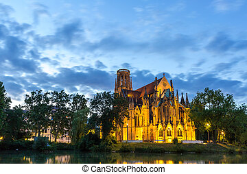 St Johns Church Stuttgart, Germany - St Johns Church sunset...