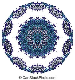 Ornamental round lace indian style. Islamic art.