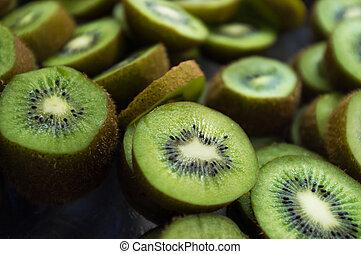 Sliced Kiwi Background - Sliced Kiwi background all natural...