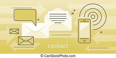 Contact Concept Message and Speech Bubble - Contact concept...