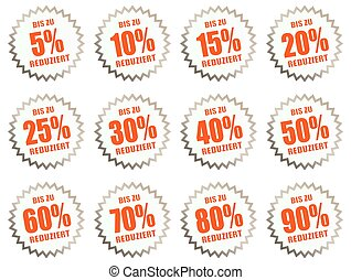 discount stickers for price offers - collection of discount...