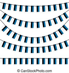 garlands with estonian national colors - different garlands...
