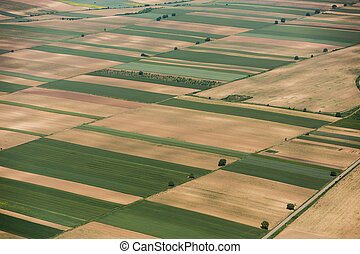 Arable land in Voijvodina photographed from air - Arable...