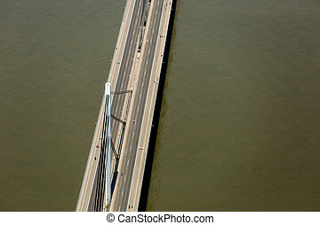 Liberty bridge in Novi Sad - Aerial view of the Liberty...