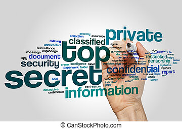 Top secret word cloud - Top secret concept word cloud...