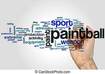 Paintball word cloud concept