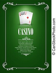 Banner with Casino Logo Badges. - Casino Logo Poster...