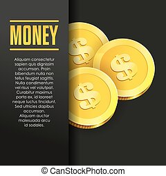 Money poster or banner design template. - Money poster or...