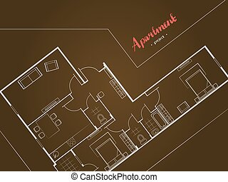 apartment project top view - Cover design Apartment project...