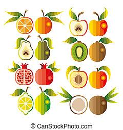 Illustration set of fruit