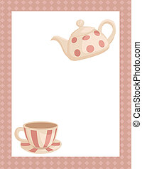 Tea party invitation, with place for your text
