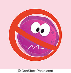 Stop virus - aids virus - Stop virus warning sign. Vector...