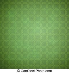 Green grunge background with pale geometric pattern.