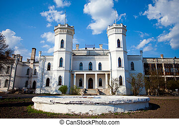 Sharovsky castle - White castle called Sharovsky in Ukraine...