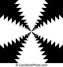 Hypnotic Fascinating Abstract ImageVector Illustration -...